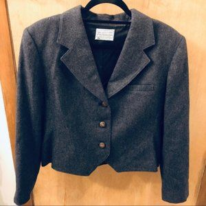 Vintage Miss Pendleton Grey 3 Button Blazer
